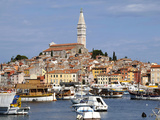 General View with St. Euphemia Church, Istrian Peninsula, Rovinj, Croatia Photographic Print by  Prisma