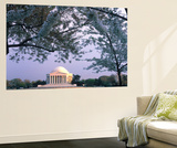 Jefferson Memorial and Cherry Blossoms at Sunrise, Tidal Basin, Washington Dc, Usa Wall Mural by Scott T. Smith