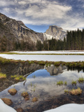Half Dome Reflected in Snow Melt, Yosemite National Park, California, Usa Photographic Print by Jamie & Judy Wild