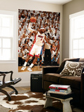 Miami, FL - June 21:  Miami Heat and Oklahoma City Thunder Game Five, LeBron James Wall Mural by Issac Baldizon