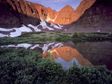Morning Light on Quartzite Cliffs of Red Castle Peak, High Uintas Wilderness, Utah, Usa Photographic Print by Scott T. Smith