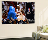 Miami, FL - June 21:  Miami Heat and Oklahoma City Thunder Game Five, LeBron James and Kevin Durant Wall Mural by Ronald Martinez