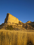 Morning Light Greets Eagle Rock at Scotts Bluff National Monument, Nebraska, Usa Photographic Print by Chuck Haney