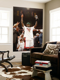 Miami, FL - June 21:  Miami Heat and Oklahoma City Thunder Game Five, LeBron James Wall Mural by Issac Baldizon
