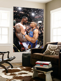 Miami, FL - June 21:  Miami Heat and Oklahoma City Thunder Game Five, Derek Fisher and LeBron James Prints by Andrew Bernstein