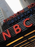 Sign of NBC News at the Rockefeller Center, New York City, New York, Usa Photographic Print by Bruce Yuanyue Bi