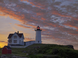 Sunrise Skies over Nubble Aka Cape Neddick Lighthouse in York, Maine, Usa Photographic Print by Chuck Haney