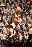 Miami, FL - June 21:  Miami Heat and Oklahoma City Thunder Game Five, Dwyane Wade Photographic Print by Issac Baldizon