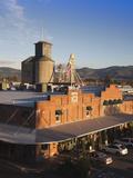 Warehouses Along the Napa River, Napa, Napa Valley Wine Country, California, Usa Photographic Print by Walter Bibikow