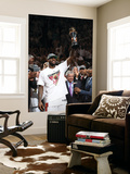 Miami, FL - June 21:  Miami Heat and Oklahoma City Thunder Game Five, LeBron James Wall Mural by Joe Murphy