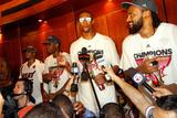 Miami, FL - June 21:  Miami Heat and Oklahoma City Thunder Game Five, Chris Bosh Photographic Print by Mike Ehrmann