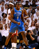 Miami, FL - June 21:  Miami Heat and Oklahoma City Thunder Game Five, Serge Ibaka Photographic Print by Ronald Martinez
