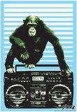 Steez Monkey Boom Box Art Poster Print Prints