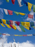 Praying Flags in the Tang Valley, Bumthang, Bhutan Photographic Print by Keren Su