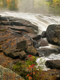 Inlet Mist over Rushing Stream, New York, Usa Photographic Print by Jay O'brien