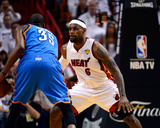 Miami, FL - June 21:  Miami Heat and Oklahoma City Thunder Game Five, LeBron James and Kevin Durant Photo by Ronald Martinez