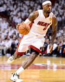 Miami, FL - June 21:  Miami Heat and Oklahoma City Thunder Game Five, LeBron James Lámina fotográfica por Ronald Martinez