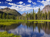 Beaver Pond in Two Medicine Valley, Glacier National Park, Montana, Usa Stampa fotografica di Chuck Haney
