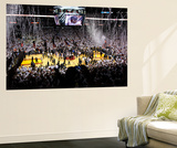 Miami, FL - June 21:  The Miami Heat celebrate with their fans after they won 121-106. Wall Mural by Mike Ehrmann