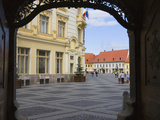Main Square, Sibiu, Romania Photographic Print by Keren Su