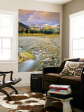 Mcdonald Creek with the Garden Wall in Autumn in Glacier National Park, Montana, Usa Wall Mural by Chuck Haney