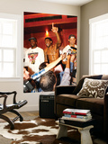 Miami, FL - June 21:  Miami Heat and Oklahoma City Thunder Game Five, Joel Anthony, Udonis Haslem a Wall Mural by Mike Ehrmann