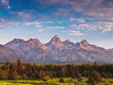 Teton Front Range and Confiners at Sunrise, Antelope Flats, Grand Teton National Park, Wy, Usa Photographic Print by Mark Williford