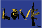 Love (Weapons) Blue Steez Poster Prints by  Steez