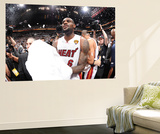 Miami, FL - June 21:  Miami Heat and Oklahoma City Thunder Game Five, LeBron James Posters by Andrew Bernstein