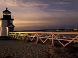 Brant Point Lighthouse, Nantucket Island, Massachusetts, Usa Photographic Print by Walter Bibikow