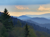 Sunrise View of Oconaluftee Valley, Great Smoky Mountains National Park, North Carolina, Usa Photographic Print by Adam Jones