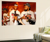 Miami, FL - June 21:  Miami Heat and Oklahoma City Thunder Game Five, Chris Bosh and Ronny Turiaf Prints by Mike Ehrmann