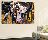 Miami, FL - June 21:  Miami Heat and Oklahoma City Thunder Game Five, Dwyane Wade Wall Mural by Joe Murphy