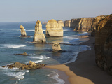 Morning Sun Lights Twelve Apostles, Tasman Sea, Port Campbell National Park, Victoria, Australia Photographic Print by Paul Souders
