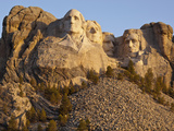 Mount Rushmore National Monument at Sunrise, South Dakota, Usa Photographic Print by Paul Souders