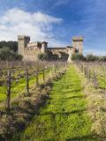 Reproduction of Italian Castle, Castello Di Amoroso Winery, Calistoga, Napa Valley, California, Usa Photographic Print by Walter Bibikow