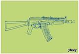 Steez Gun Art Print Poster Posters