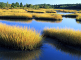 Salt Marsh at Sunrise, Estuary of New Meadow River in Early Autumn, Maine, Usa Photographic Print by Scott T. Smith