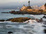 Surf at Playa Los Artistas, Wulff Castel and Resort Hotels, Vina Del Mar, Chile Photographic Print by Scott T. Smith