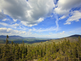 View of Sugarloaf Mountain from the Appalachian Trail on Crocker Mountain in Stratton, Maine, Usa Fotografie-Druck von Jerry & Marcy Monkman