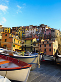 Fishing Boats at Rest in Manarola in Cinque Terre, Tuscany, Italy Photographic Print by Richard Duval