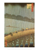 Sudden Shower Posters by Ando Hiroshige