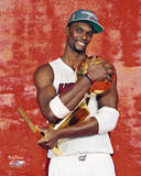 Chris Bosh with the NBA Championship Trophy Photo