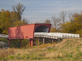 Roseman Covered Bridge Spans Middle River, Built in 1883, Madison County, Iowa, Usa Photographic Print by Jamie & Judy Wild