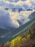 Clouds in Oconaluftee Valley at Sunrise, Great Smoky Mountains National Park, North Carolina, Usa Photographic Print by Adam Jones