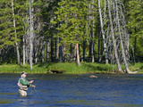 Fly Fishing the Madison River in Yellowstone National Park, Montana, Usa Photographic Print by David R. Frazier