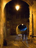 The Night View of Cobbled Stone Path and Entrance of Medieval Citadel, Sighisoara, Romania Photographic Print by Bruce Yuanyue Bi