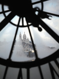 The View of Sacre Coeur Basilica from Clock in Cafe of Musee D'Orsay (Orsay Museum), Paris, France Photographic Print by Bruce Yuanyue Bi