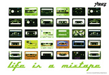 Steez Life Is A Mixtape - Green Art Print Poster Posters
