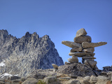 Dragontail Peak, Inukshuk, Alpine Lakes Wilderness, Washington State, Usa Photographic Print by Jamie & Judy Wild